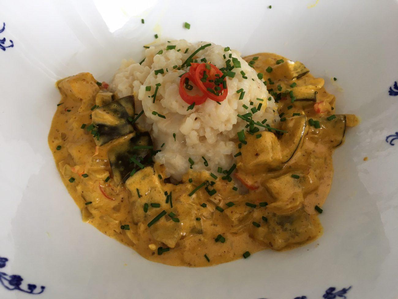 Aubergine currygryta
