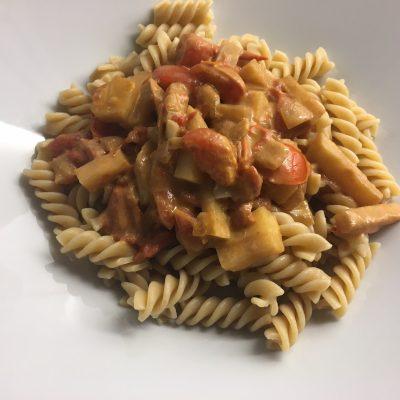 Rotselleripasta med tomat