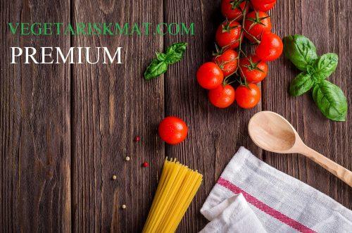 Vegetarisk mat premium prenumeration